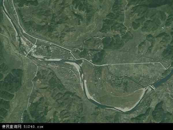 中国江西省鹰潭市贵溪市上清林场(龙虎山风景旅游区管委会)地图(卫星