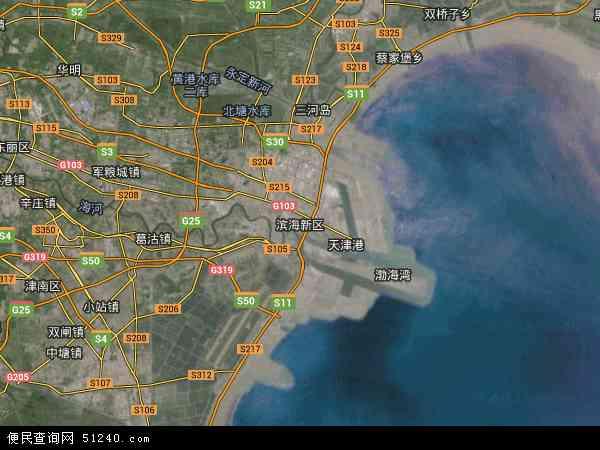 中国天津市滨海新区天津滨海新区高新技术产业开发区地图(卫星地图)
