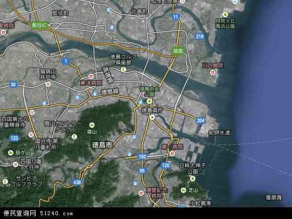 徳岛卫星地图 - 徳岛高清卫星地图 - 徳岛高清航拍地图 - 2018年徳岛