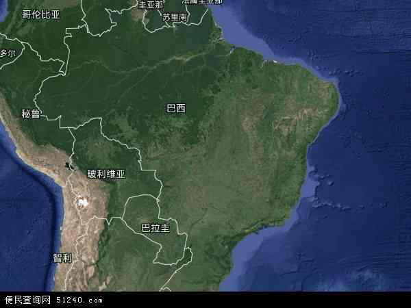 巴西地图(卫星地图)