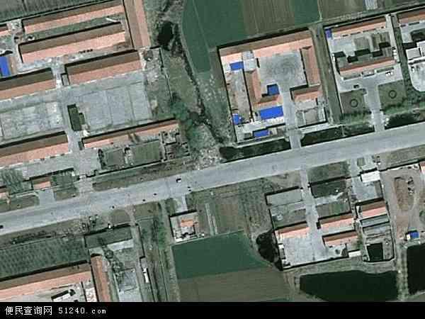 中国山东省青岛市莱西市沽河地图(卫星地图)