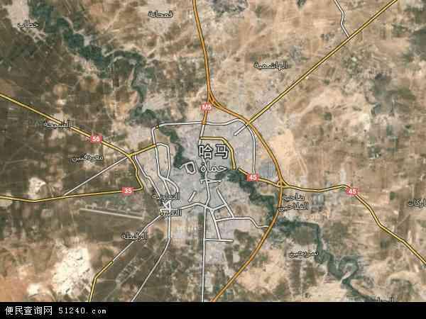 哈马卫星影像,哈马高清卫星航拍地图