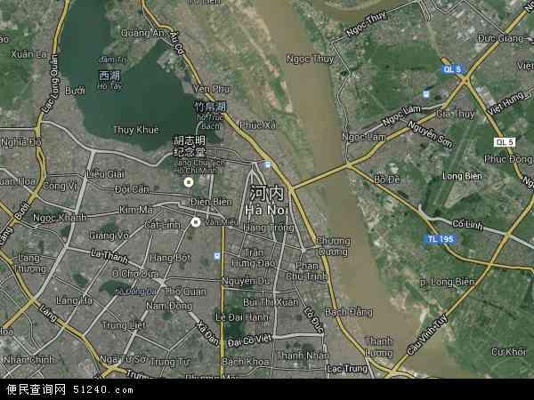 越南河内地图(卫星地图)
