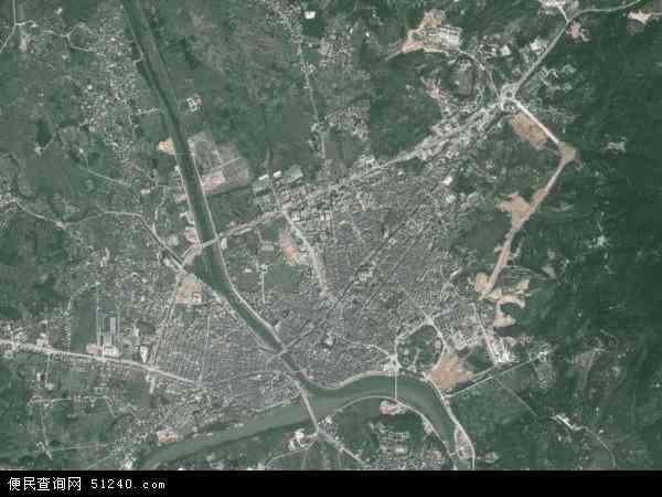 县河婆地图(卫星地图) 中国广东省揭阳市揭西县南山镇地图(卫星地图图片