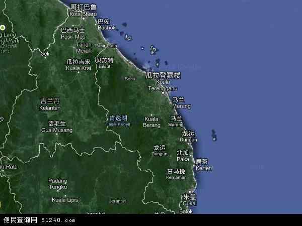 马来西亚丁加奴乌鲁地图(卫星地图)