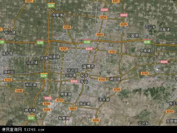 淄博市地图 - 淄博市卫星地图
