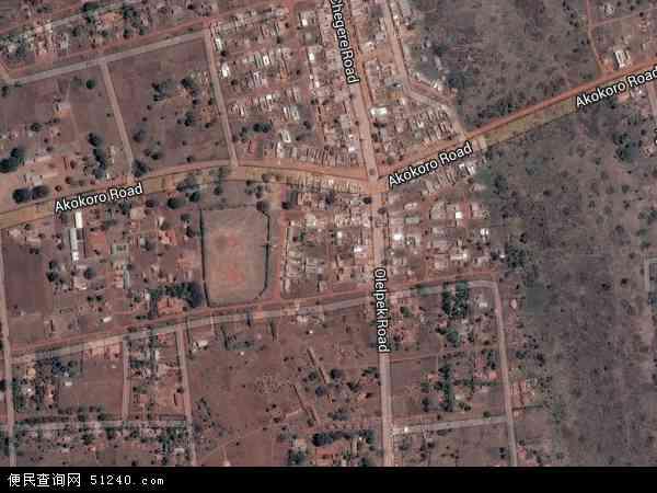 乌干达阿帕克地图(卫星地图)