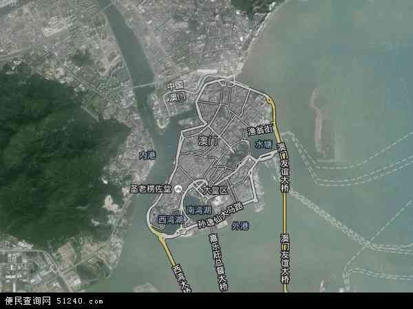 澳门地图 - 澳门卫星地图 - 澳门高清航拍地图