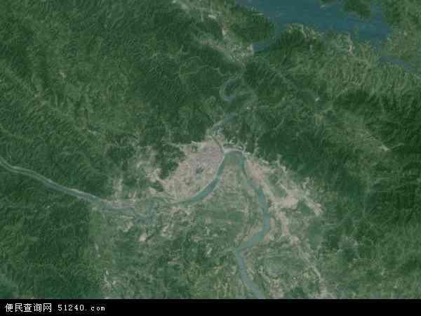 中国广西壮族自治区百色市地图(卫星地图)图片