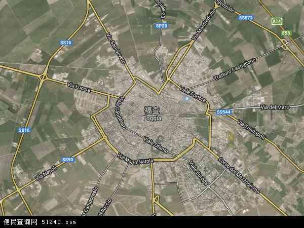 意大利福贾地图(卫星地图)