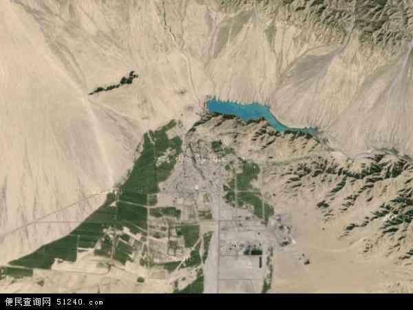 中国青海省海西蒙古族藏族自治州地图(卫星地图)
