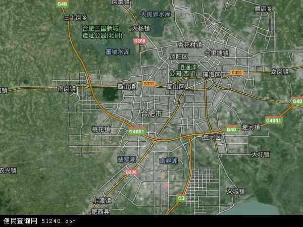 合肥市地图 合肥市卫星地图 合肥市高清航拍地图 合肥市高清卫星地图 图片