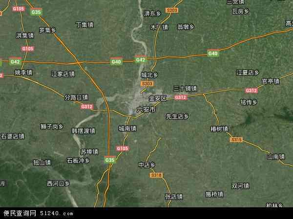 六安市高清航拍地图