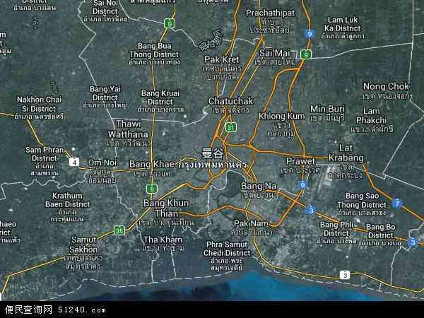 泰国曼谷地图(卫星地图)