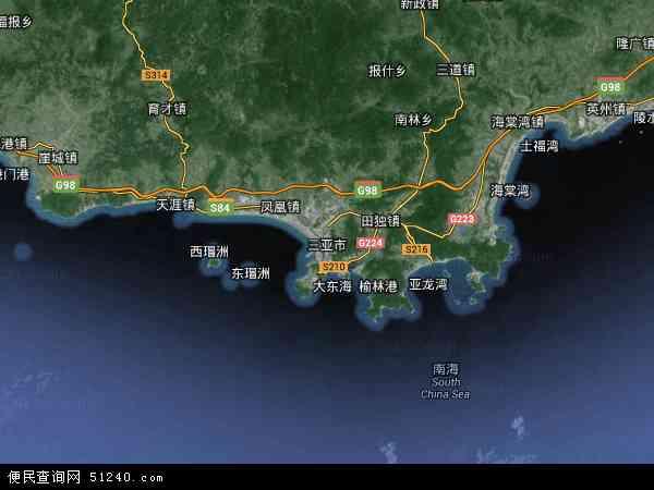 三亚市卫星地图 - 三亚市高清卫星地图 - 三亚市高清航拍地图 - 2019