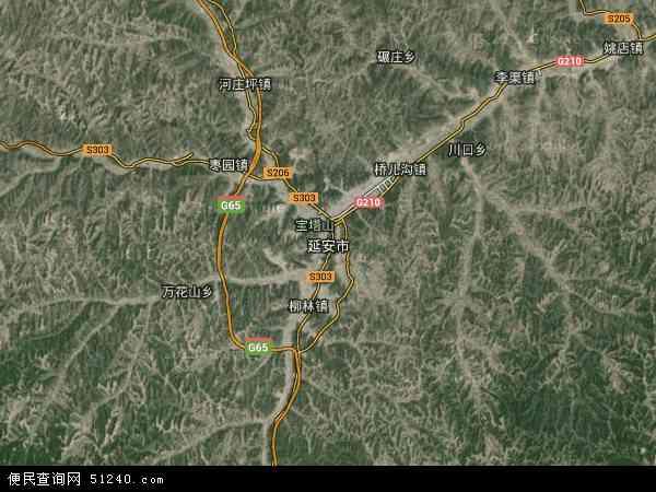 延安市地图 - 延安市卫星地图