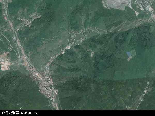 中国吉林省白山市浑江区板石地图(卫星地图)