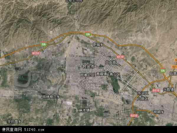 包头市地图 包头市卫星地图 包头市高清航拍地图 包头市高清卫星地图 图片