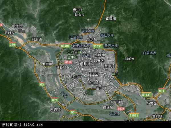 福州市地图 福州市卫星地图 福州市高清航拍地图 福州市高清卫星地图 图片