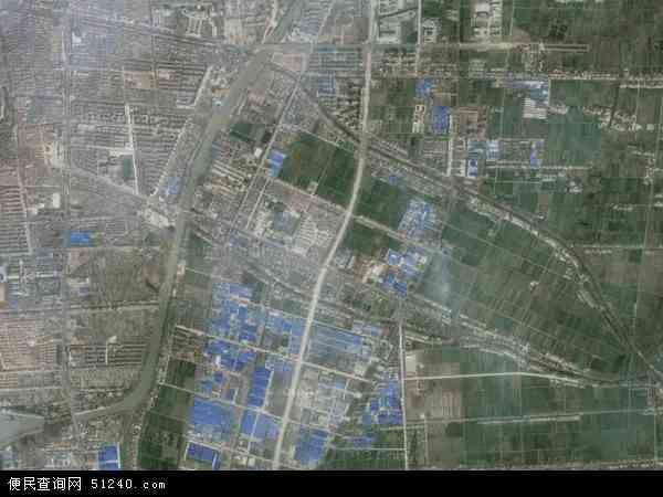 中国江苏省扬州市高邮市高邮地图(卫星地图)