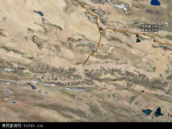 中国青海省海西蒙古族藏族自治州格尔木市地图(卫星地图)