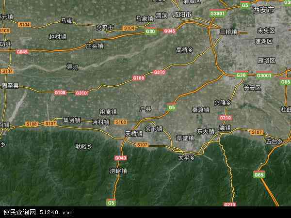 户县地图 - 户县卫星地图