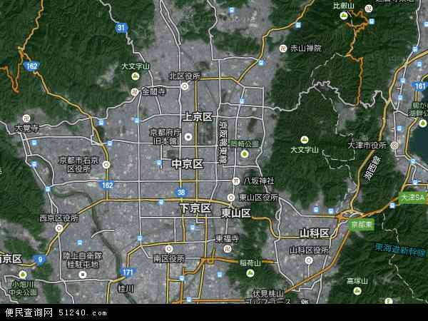 日本京都地图(卫星地图)