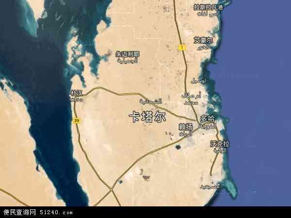卡塔尔卫星地图 - 卡塔尔高清卫星地图 - 卡塔尔高清航拍地图 - 2016年卡塔尔高清卫星地图