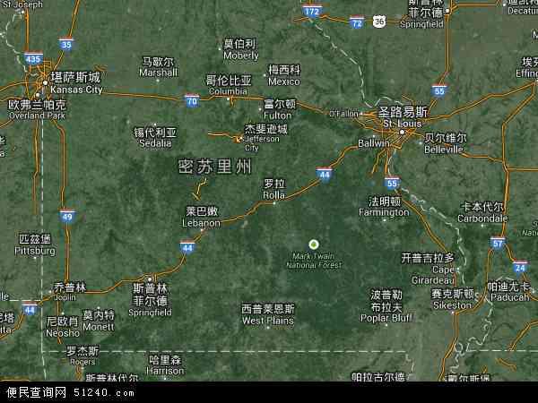 美国高清卫星地图_密苏里地图 - 密苏里卫星地图 - 密苏里高清航拍地图