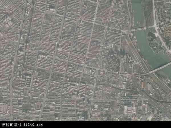 中国辽宁省辽阳市白塔区南门地图(卫星地图)