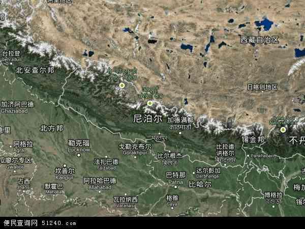 尼泊尔卫星地图 - 尼泊尔高清卫星地图 - 尼泊尔高清航拍地图 - 2016年尼泊尔高清卫星地图