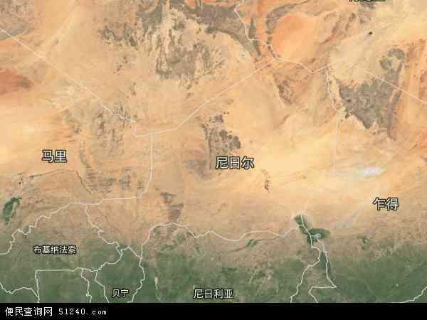 尼日尔卫星地图 - 尼日尔高清卫星地图 - 尼日尔高清航拍地图 - 2016年尼日尔高清卫星地图