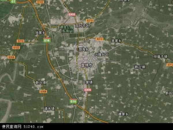 盘锦市卫星地图 - 盘锦市高清卫星地图 - 盘锦市高清航拍地图 - 2018