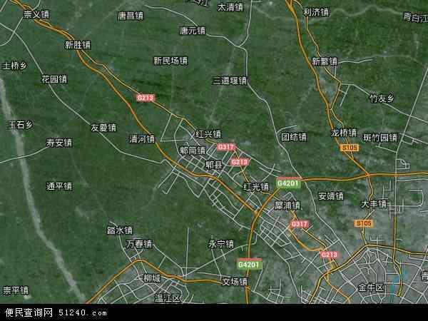 郫县高清卫星地图 - 郫县高清航拍地图