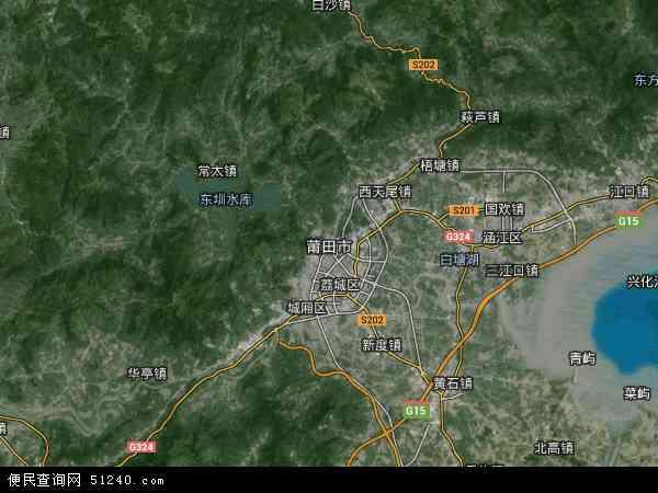 莆田市地图 - 莆田市卫星地图