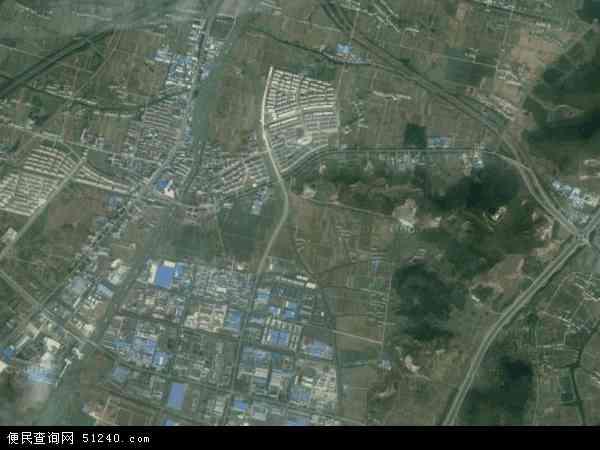 中国江苏省无锡市宜兴市屺亭地图(卫星地图)