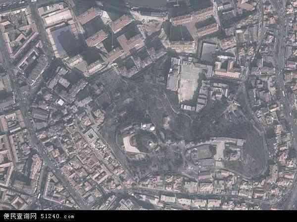 中国山东省青岛市市北区四方地图(卫星地图)