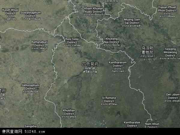 泰国四色菊地图(卫星地图)