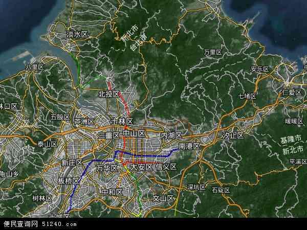 台北市地图 - 台北市卫星地图