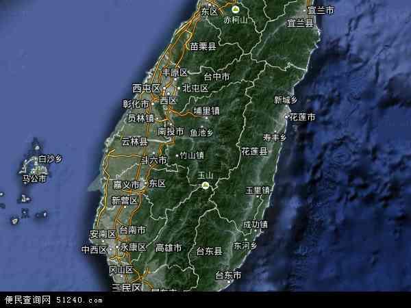 2016台湾卫星地图,台湾北斗卫星地图2017,部分地区可以实现高清2017