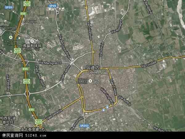 乌迪内高清航拍地图