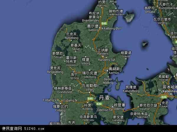 丹麦维厄勒地图(卫星地图)图片