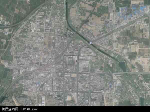 中国河南省郑州市巩义市孝义地图(卫星地图)