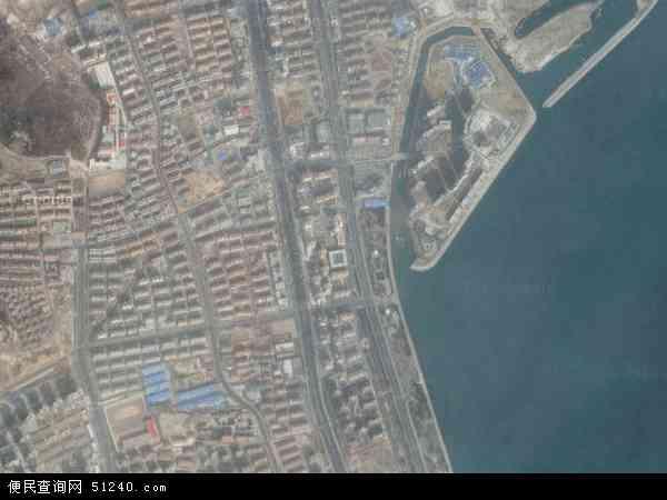 中国山东省威海市环翠区竹岛地图(卫星地图)