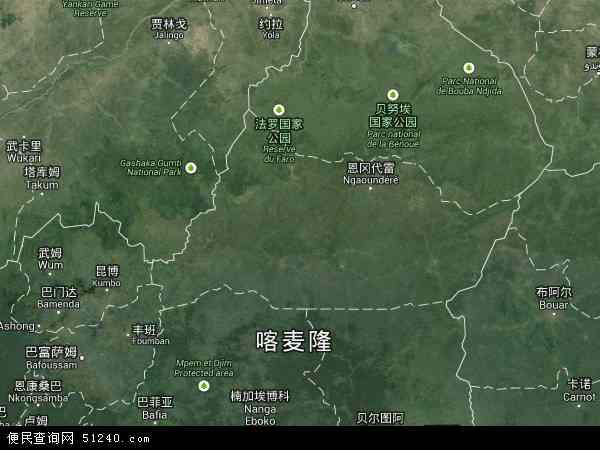 喀麦隆阿达马瓦地图(卫星地图)