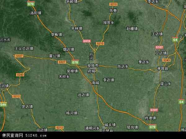 安陆市高清卫星地图 安陆市2016年卫星地图 中国湖北省孝感市安陆