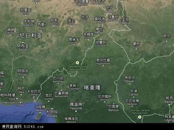喀麦隆北端地图(卫星地图)
