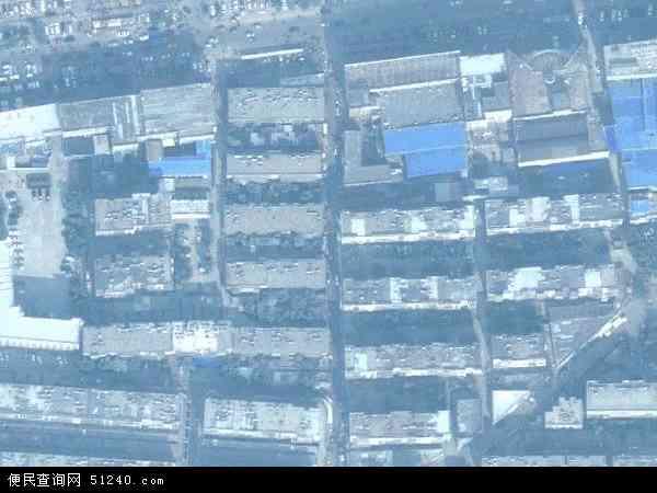 中国山东省泰安市泰山区财源地图(卫星地图)