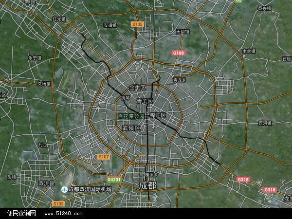成都市地图 - 成都市卫星地图