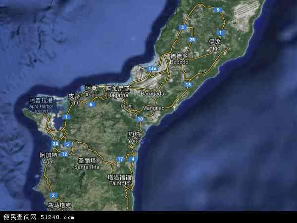 博茨瓦纳地图_关岛地图 - 关岛卫星地图 - 关岛高清航拍地图